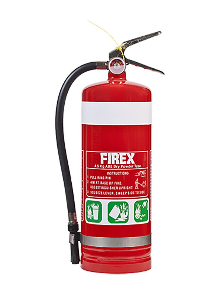 Dry Chemical Powder – Type Extinguishers (Dry chemical type extinguishers are used to fight 'Class A, B, C & E' fires.)
