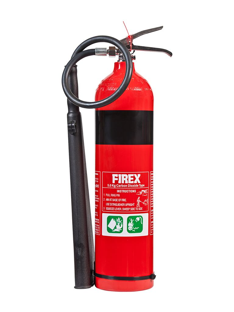 Carbon Dioxide – Type Extinguishers (Carbon dioxide type extinguishers are used to fight 'Class E' fires.)