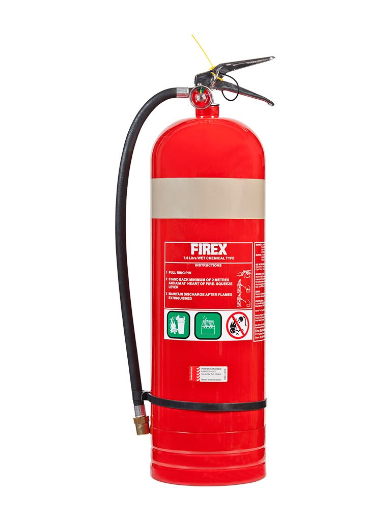Wet Chemical – Type Extinguishers (Wet chemical type fire extinguishers are used to fight 'Class A' and Class 'F' fires.)