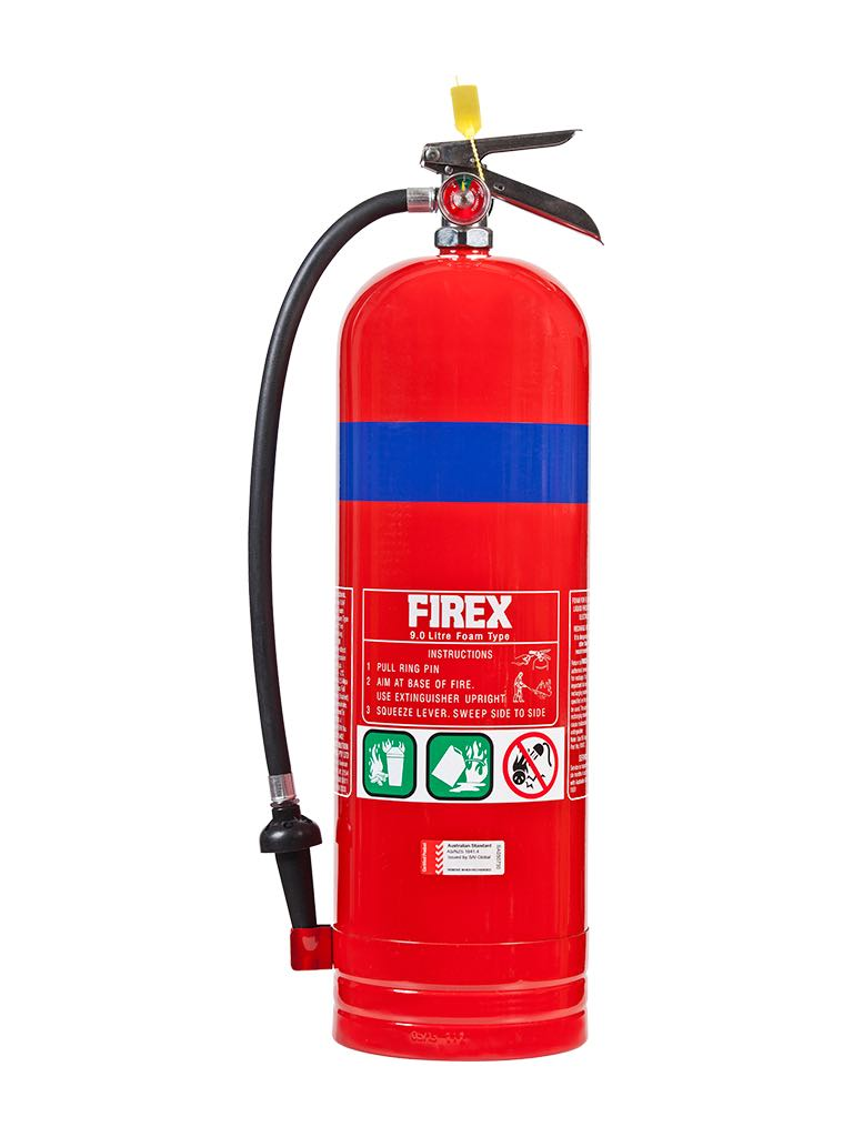Foam – Type Extinguishers (Foam type fire extinguishers are used to fight 'Class A' and 'Class B' fires.)
