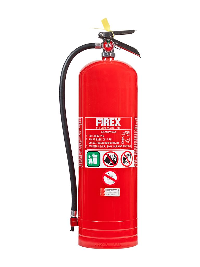 Water – Type Extinguishers (Water type fire extinguishers are used to fight 'Class A' fires.)